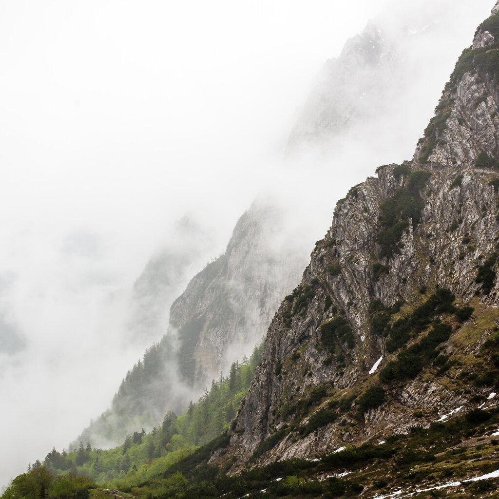 Berge und Wolken, Wilder Kaiser, Kufstein